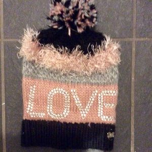 Funky winter hat by designer Betsy Johnson